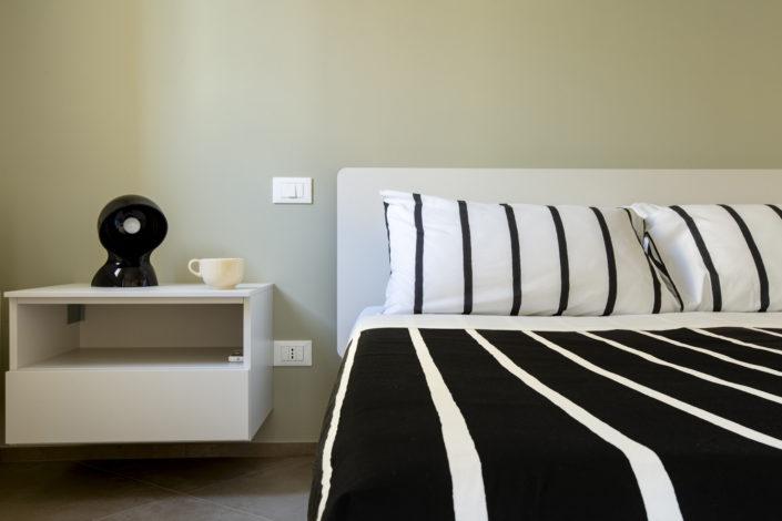 Foto professionale del Dettaglio della camera da letto di un Hotel a Trapani