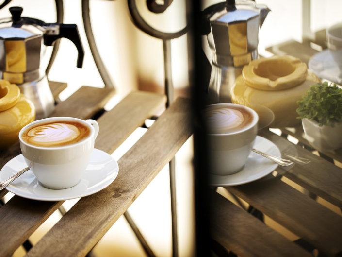Fotografo per alberghi e strutture di lusso. In foto caffè e cappuccino