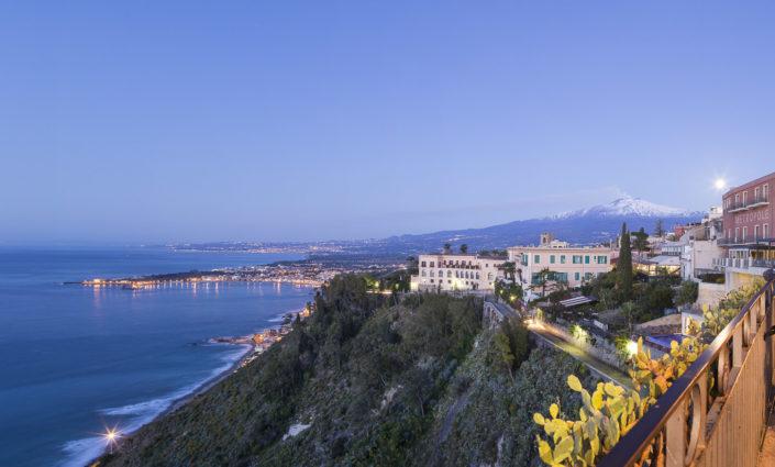 fotografia fine art per arredare stampata su tela Foto del mare visto da Taormina