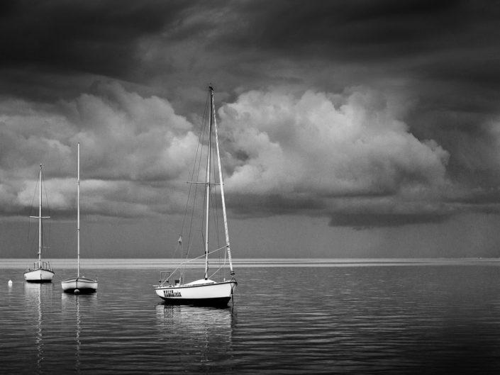 fotografia fine art su tela paesaggio bianco e nero