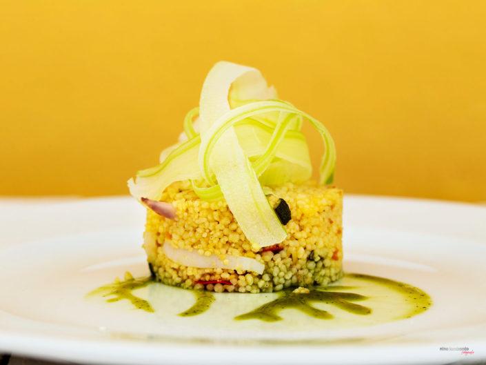 Tabulè di pesce e verdure Ristorante Stravento Trapani Fotografie Cucina Gastronomica Mediterranea