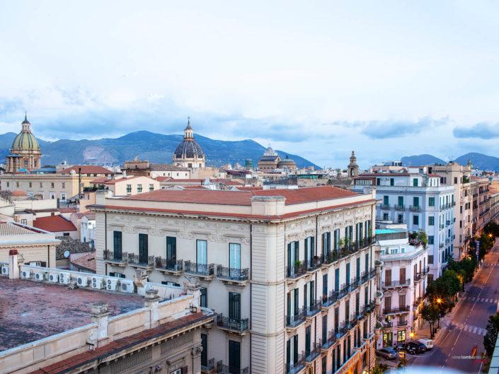 Palermo vista da sopra i tetti