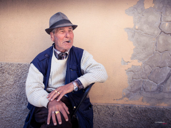 Ritratti di persone tipiche siciliane, per foto di viaggio