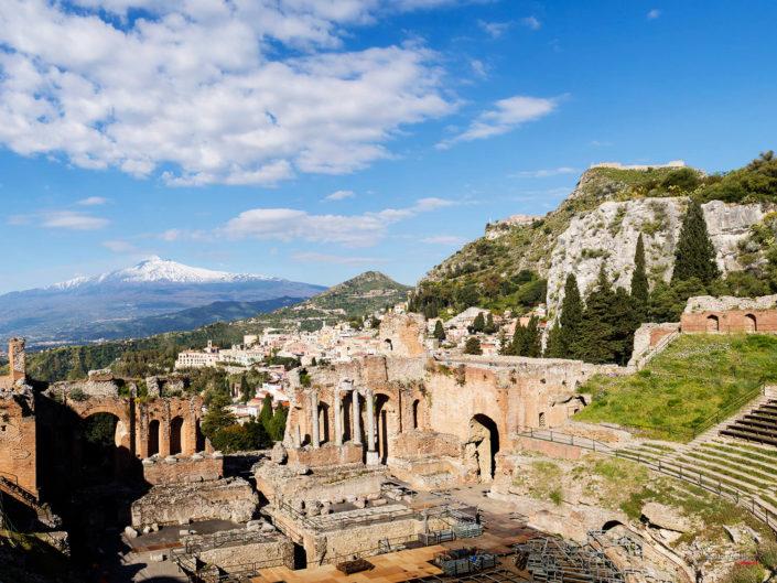 Teatro Greco Di taormina Foto Professionale